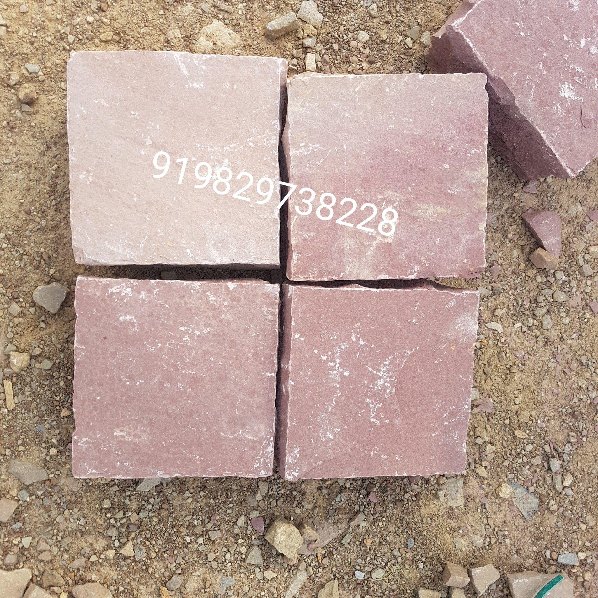 Red colour cobblestone